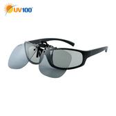 快速出貨 UV100 防曬 抗UV Polarized夾掛式眼鏡-感光變色
