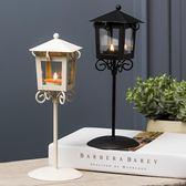 歐式創意燭台擺件蠟燭台家居客廳奶茶店鋪燭光晚餐浪漫復古裝飾品 igo 薔薇時尚