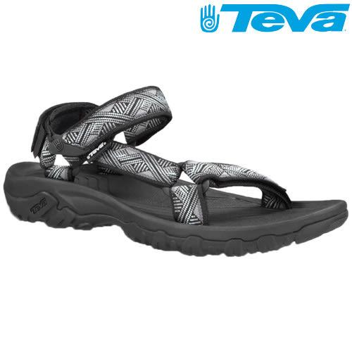 TEVA 熱銷經典織帶水陸機能運動涼鞋Hurricane XLT - 幾何黑