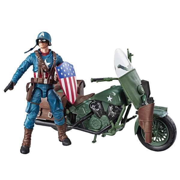 漫威傳奇80周年 6吋 美國隊長 機車組 摩托車組 交通工具組 二戰美隊