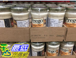 [COSCO代購] C121309 PREGO ALFREDO CHEESE 起司白醬 每罐411公克X 3罐