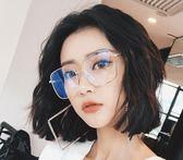 眼鏡框潮個性圓臉復古金邊近視眼鏡方框【不二雜貨】