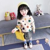 兒童毛衣 女童毛衣2019新款秋裝兒童洋氣套頭針織衫女寶寶加厚款秋冬打底衫 2色90-130 雙12提前購