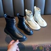 女童靴子兒童馬丁靴中大童時尚短靴皮靴單靴【聚可愛】