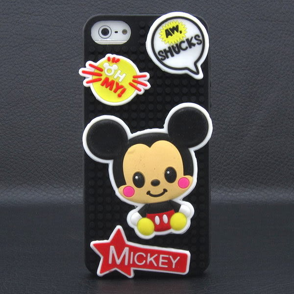 限量版 迪士尼 iPhone5S/ 5 拼圖系列 矽膠套保護殼 樂高 積木 三眼怪 史迪奇 米奇 小熊維尼 軟殼