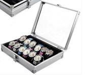 12位手錶箱鋁合金錶箱帶鎖手錶盒展示箱收納盒『艾麗花園』