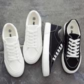 韓版百搭白鞋休閒男鞋帆布板鞋小白鞋布鞋【英賽德3C數碼館】