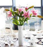 仿真花百合花插花塑料花客廳家居餐桌裝飾花藝pu假花百合花單支花 艾尚旗艦店