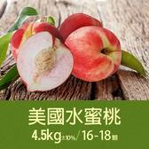 【屏聚美食】空運美國水蜜桃1箱(約4.5kg±10%/箱/16-18顆)超值免運組