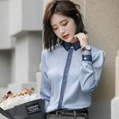 白色襯衫女長袖職業正裝襯衣工裝工作服