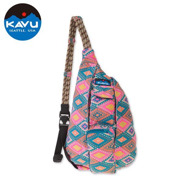 【西雅圖 KAVU】 Mini Rope Bag 休閒肩背包 菱形地毯 #9150