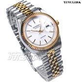 TIVOLINA 典藏記憶 擁恆時光 不鏽鋼鐵帶 半金色女錶 放大日期顯示窗 MAT3693-W