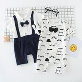 618大促 周歲禮服男嬰兒夏裝男0-6個月3連體衣12女哈衣薄款短袖純棉男寶寶