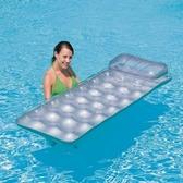 游泳圈成人單人式躺椅舒適充氣水上活動坐騎浮板73ez27  巴黎