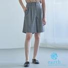 「Spring」格紋/素面打摺短褲裙 -...