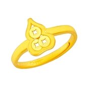 幸運草金飾 - 財入- 黃金戒指