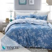 全鋪棉天絲床包兩用被 雙人5x6.2尺 雙色羅曼史 100%頂級天絲 萊賽爾 附正天絲吊牌 BEST寢飾