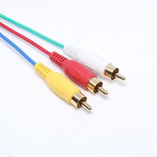 高清HDMI轉AV端子線 HDMI轉3RCA音視頻線音視頻線HDMI to 3RCA轉接頭1.5米