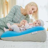 嬰兒防吐奶斜坡墊0-1歲新生兒防溢奶寶寶枕頭喂奶神器「千千女鞋」igo