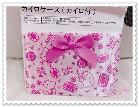 小花花日本精品Hello Kitty 緞面布 蝴蝶結 緞帶 粉色 大臉 面紙套 暖暖包套 日本限定