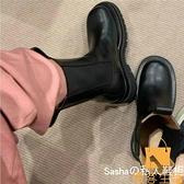 馬丁靴女中筒靴厚底切爾西靴春夏款粗跟短靴【慢客生活】