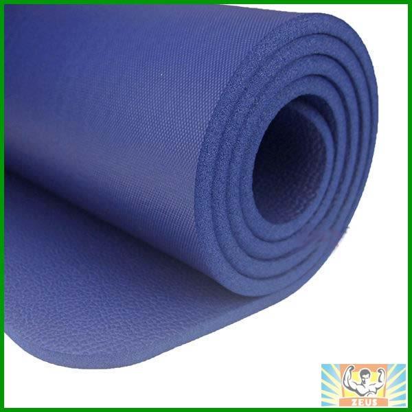 加厚瑜珈墊10mm(深藍) (1公分瑜伽墊/NBR/運動墊/止滑/防滑瑜珈墊/附背袋)
