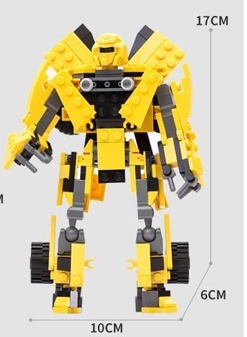 古迪積木變形機器人金剛大黃蜂汽車拼裝玩具益智6-7-8-10歲男孩