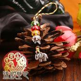 吉祥如意 五色繩彩珠吊飾 含開光 臻觀璽世 IS4372