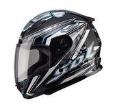 【東門城】SOL SF-2 HELLO 黑/銀 全罩式安全帽