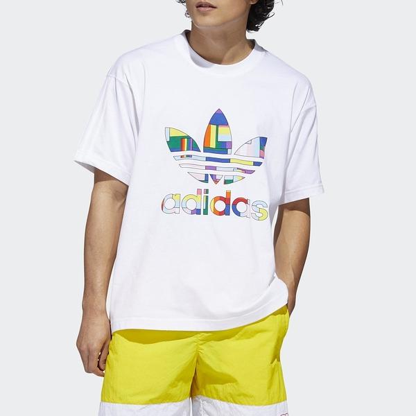 ADIDAS 短袖 短T PRIDE 彩色大LOGO 短袖 男(布魯克林) GD0953