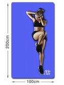 瑜伽墊哈宇加厚20mm加寬100cm瑜伽墊寬1米長2米運動健身墊環保大雙人墊【快速出貨八折搶購】