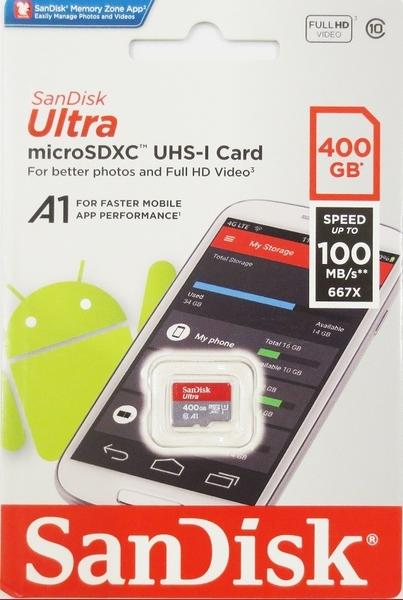 SanDisk 400GB 400G microSDXC【Ultra 100MB/s】microSD micro SD SDXC UHS U1 A1 SDSQUAR-400G 記憶卡