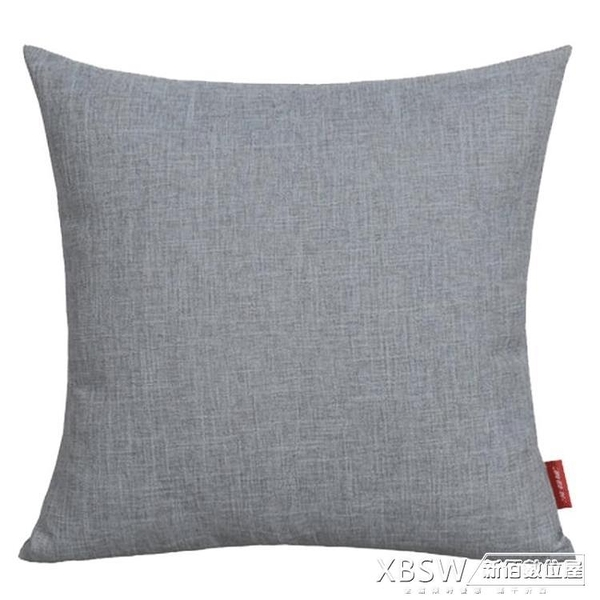 加厚亞麻抱枕沙發靠枕辦公室床頭簡約靠墊大腰枕套靠背不含芯定制CY『新佰數位屋』