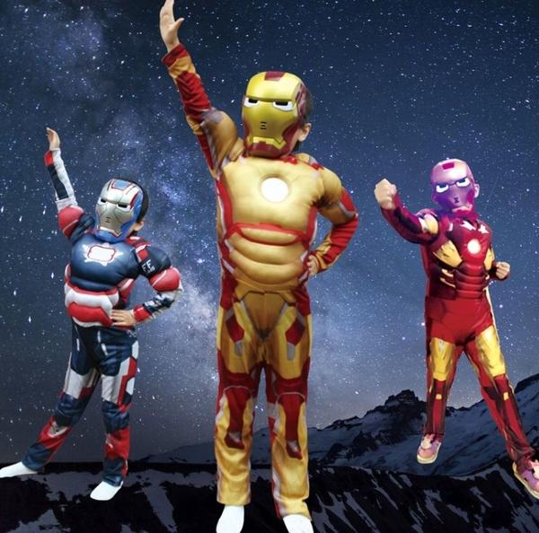 衣童趣(•‿•)鹹蛋超人 兒童角色扮演服裝 萬聖節派對 帥氣超人 表演服裝 【現貨】贈隨機面罩