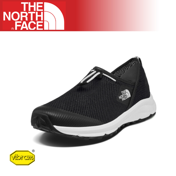 【The North Face 男 休閒鞋《黑/白》】3RDZ/耐磨慢跑鞋/Vibram黃金大底/懶人鞋/透氣