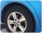 SAMURAI【輪眉防撞條純黑】4入 汽車用輪弧保護條 車載輪邊防護條 輪框安全保護防刮傷 防擦撞