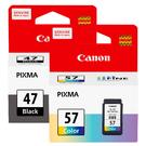 CANON PG47+CL57 一黑一彩 原廠墨水匣 適用E400