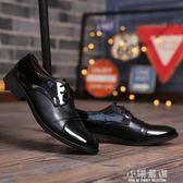 春夏季男士商務正裝皮鞋男黑色尖頭青年休閒鞋伴郎西裝婚紗照男鞋『小淇嚴選』