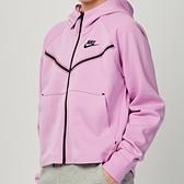 Nike NSW tch flc wr hoodie fz 女款 粉 運動 慢跑 健身 連帽 外套 CW4299-680