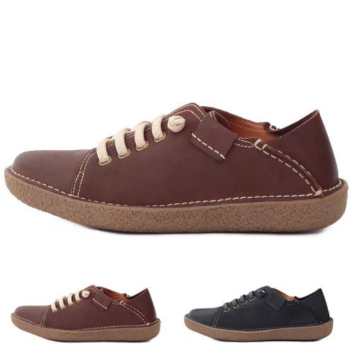 男款 大自然休閒系列 簡約輕量兩穿牛皮 真皮手工休閒鞋 59鞋廊
