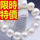 珍珠手鍊 單顆7-8mm-生日情人節禮物流行精緻女性飾品53pe31【巴黎精品】