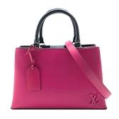 【台中米蘭站】全新展示品 Louis Vuitton Kleber EPI 手提斜背兩用包-PM(M51347-桃色)