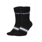 Nike U J LEGACY CREW 2PR 黑 兩雙入 運動 籃球 中筒襪 SK0025-010