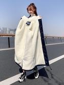 工裝外套 棉服女冬年韓版寬鬆過膝棉衣ins港風加厚羊羔毛工裝外套【全館免運】