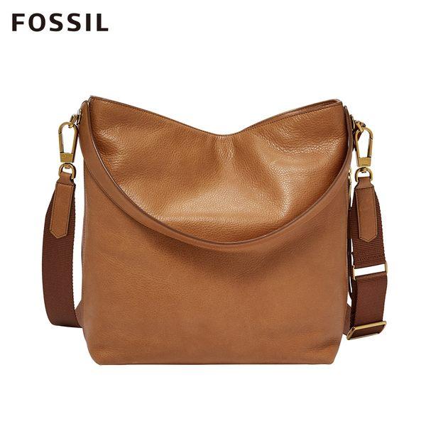 Fossil MAYA 純粹駝色兩用單肩包 ZB6979231