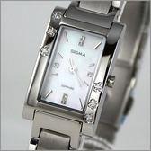 【萬年鐘錶】SIGMA日系 白典雅女鑽錶 1021L-02