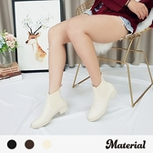 短靴 簡約素面尖頭短靴 MA女鞋 T5080