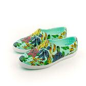 native JERICHO 懶人鞋 洞洞鞋 防水 雨天 女鞋 綠色 花 11300401-8091 no300