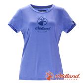 【wildland 荒野】女 彈性印花經典抗UV上衣『紫羅蘭』0A71637 T恤 上衣 休閒 抗紫外線 吸濕 排汗 印花