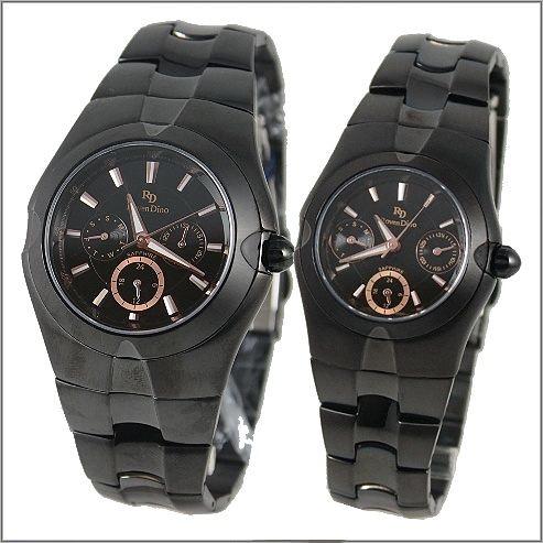 【萬年鐘錶】 Roven Dino 羅梵迪諾 楊丞琳代言 全黑金對錶 RD9801B-RD9802B